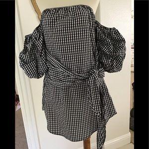 Dresses & Skirts - F21 Strapless gingham dress
